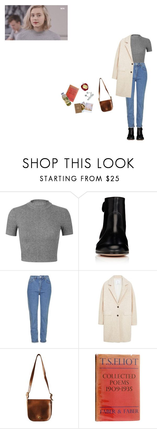 """Noora - SKAM"" by vuesurciel ❤ liked on Polyvore featuring Miss Selfridge, Gianvito Rossi, Topshop, MANGO, Polaroid, Royce Leather, nura, noora and skam"