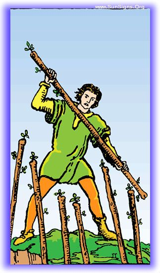 Seven of Wands - Minor Arcana | SunSigns.Org