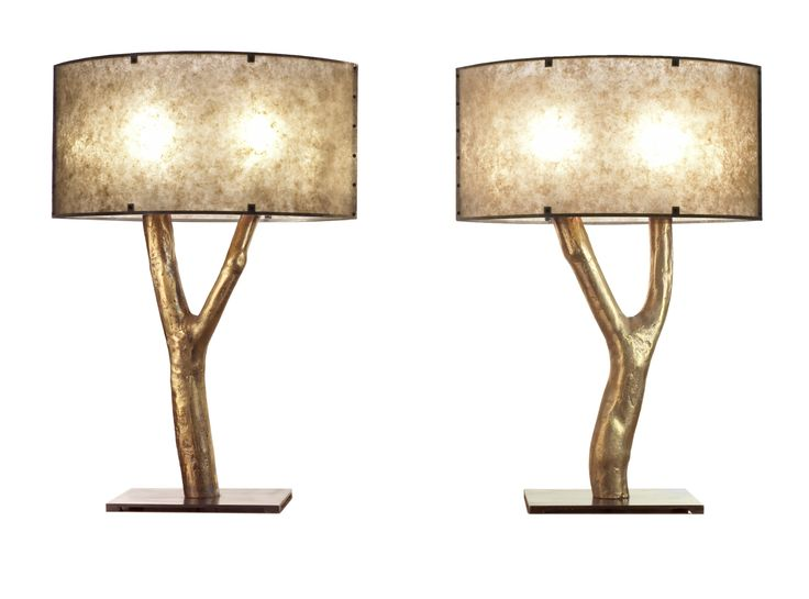 Buy Tree Table Lamp by Marsia Holzer Studio - Made-to-Order designer Lighting from Dering Hall's collection of Contemporary Rustic / Folk Industrial Transitional Organic Southwestern Table Lighting.