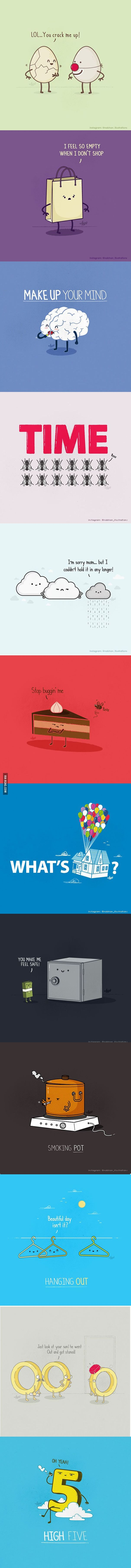 Pun Illustrations