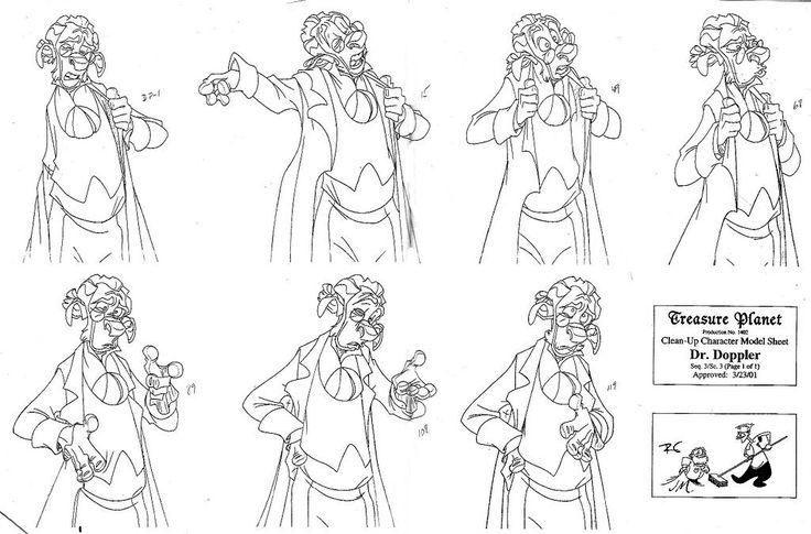 Character Design Disney : Dfga films treasure planet character design reference