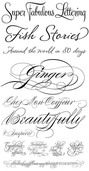 I love frilly fonts!  I realize these are useless for what I do, but they're pretty.
