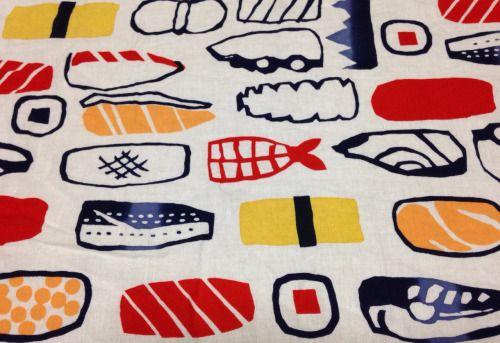 fukuasuka:  先日買ったお寿司柄の手ぬぐい。とても気に入ってる。