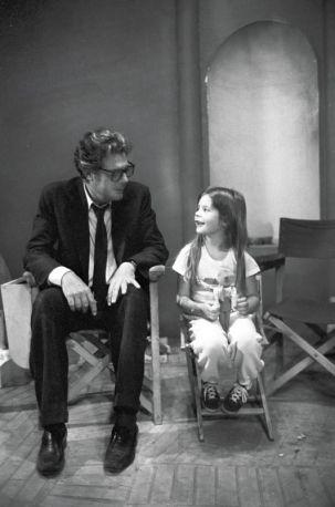 Marcello Mastroianni  with his daughter Chiara Mastroianni