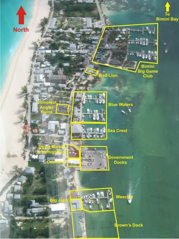 Aerial map of North Bimini | Maps of Bimini & The South ...