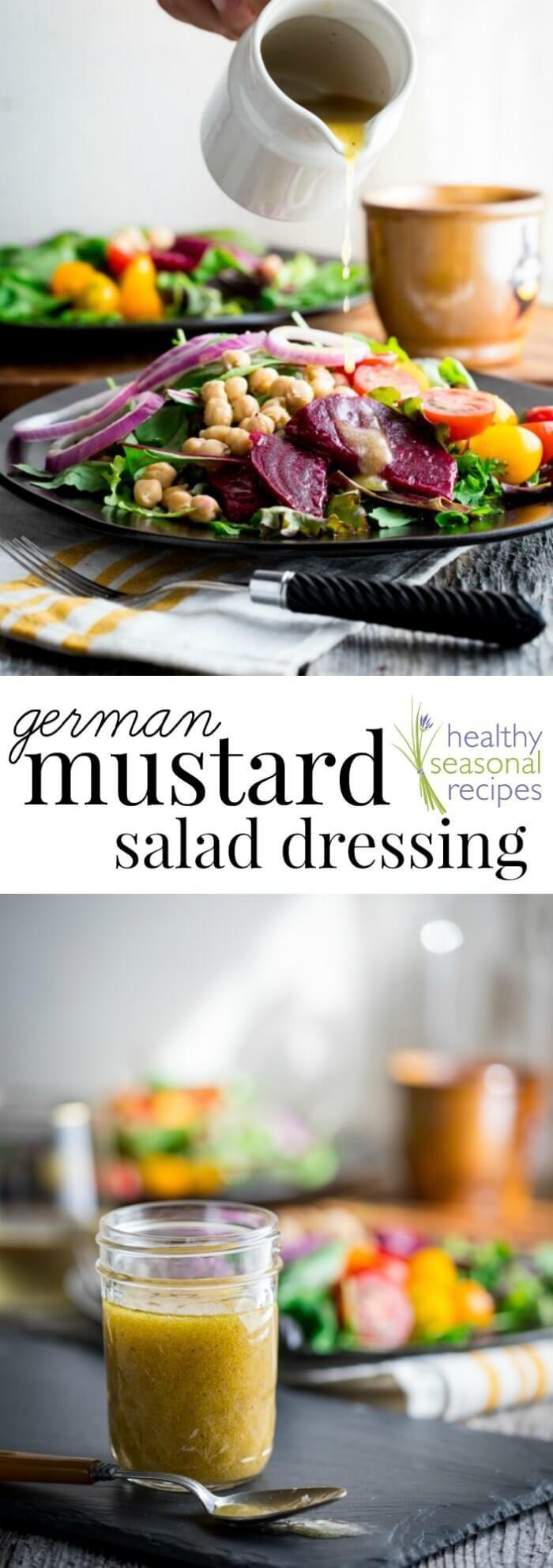 Mustard Salad Dressing Recipe Recipes Healthy Salad Dressing Salad Dressing Recipes [ 1986 x 700 Pixel ]