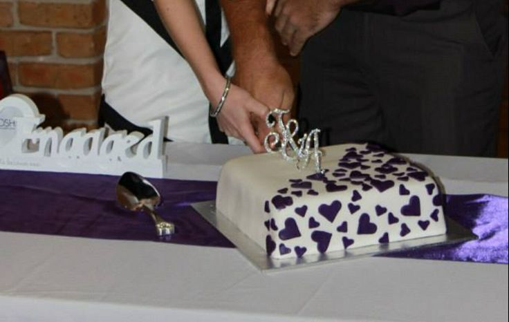 Simple engagement cake.
