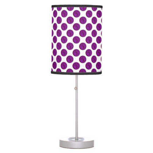 Paw Print Dot - Purple Desk Lamp