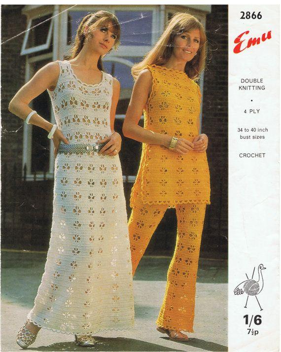 Vintage Retro Corchet Pattern For Tabbard Trousers by FrankieandJJ