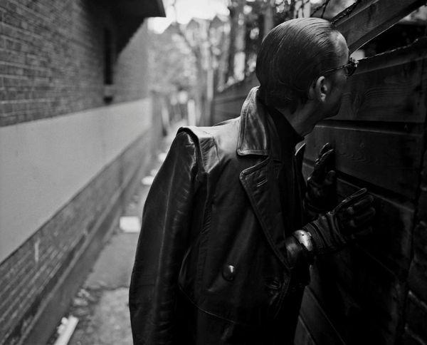 Writer/Performer Jules Deelder in Rotterdam. Photographer John Vane.
