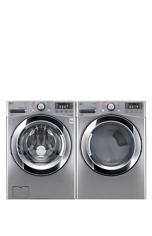 Laveuse Sécheuse LG à chargement frontal - WM3670HVA DLEX3370V #Électroménager #Acierinoxydable #Lavage #Moderne #Laundry #Appliances #Stainless #Clean #Modern