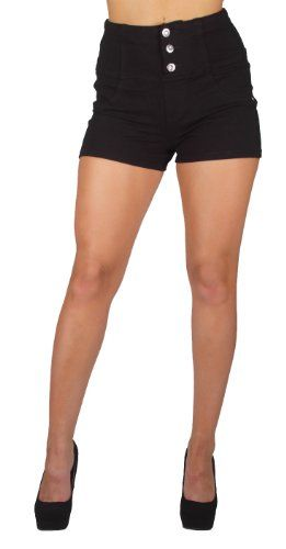 U-Turn 3004 Colombian style Sexy Stretch Moleton Butt lift High-Waist Shorts (XS, Black) U-Turn Jeans http://www.amazon.com/dp/B00JSY1V34/ref=cm_sw_r_pi_dp_.Tlyub10KEP0Z