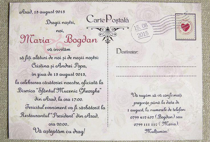 Invitatii de Nunta Colectia Rosa 03