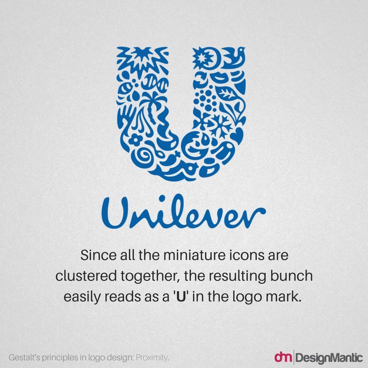 Gestalt Principle - Proximity - Unilever Logo