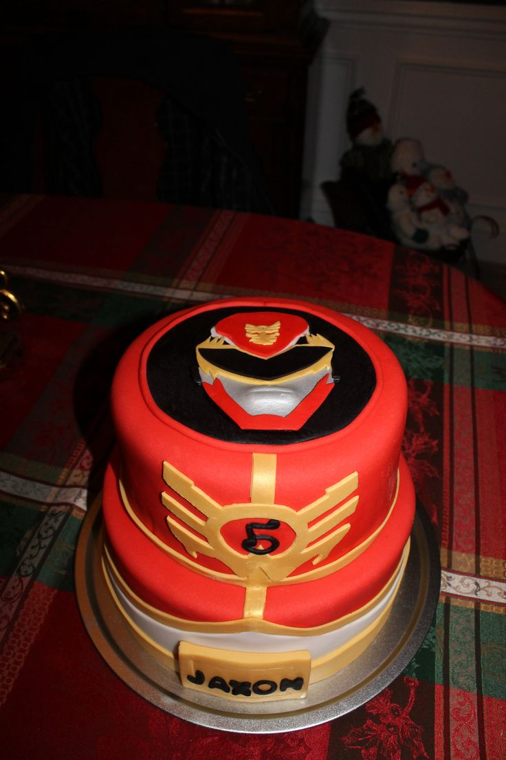 - Red Ranger/Power Ranger cake
