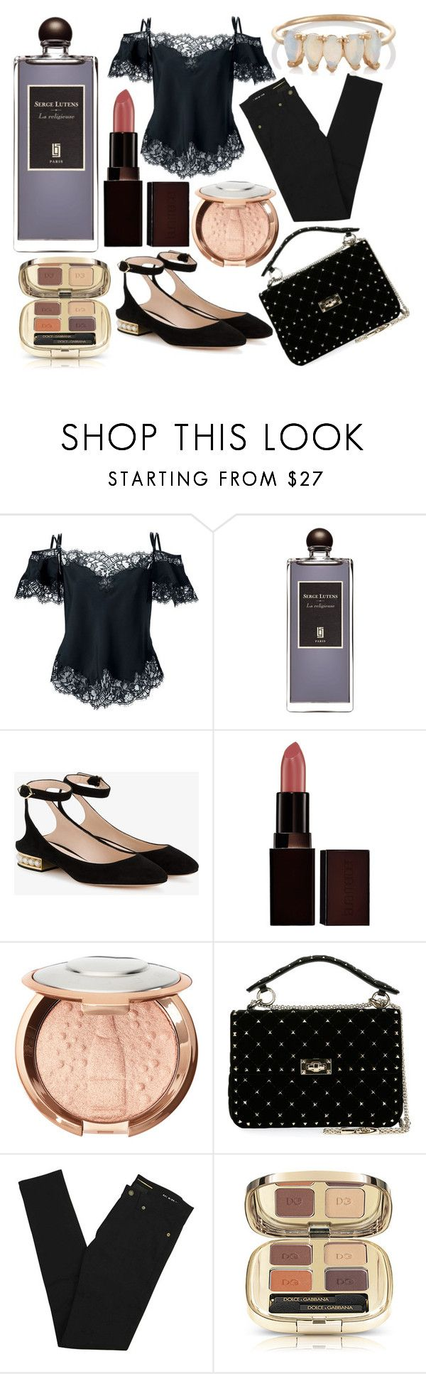 """""""la religieuse"""" by annabellispeterson ❤ liked on Polyvore featuring Givenchy, Serge Lutens, Nicholas Kirkwood, Laura Mercier, Valentino, Yves Saint Laurent and Loren Stewart"""
