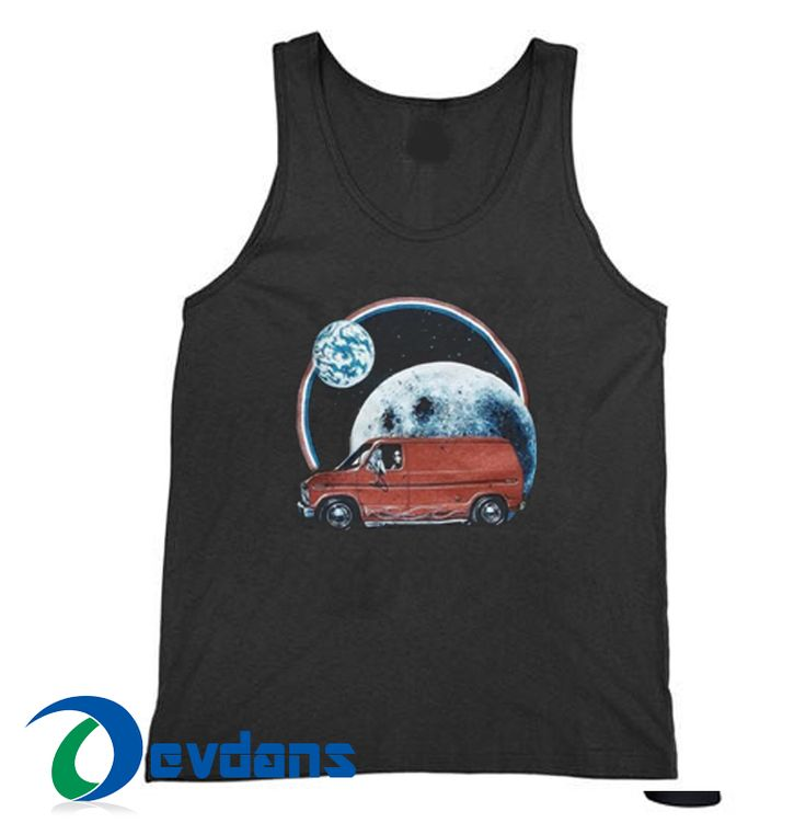 Car Moon Cheap Tank top Men and Women Adult Size S – 2XL