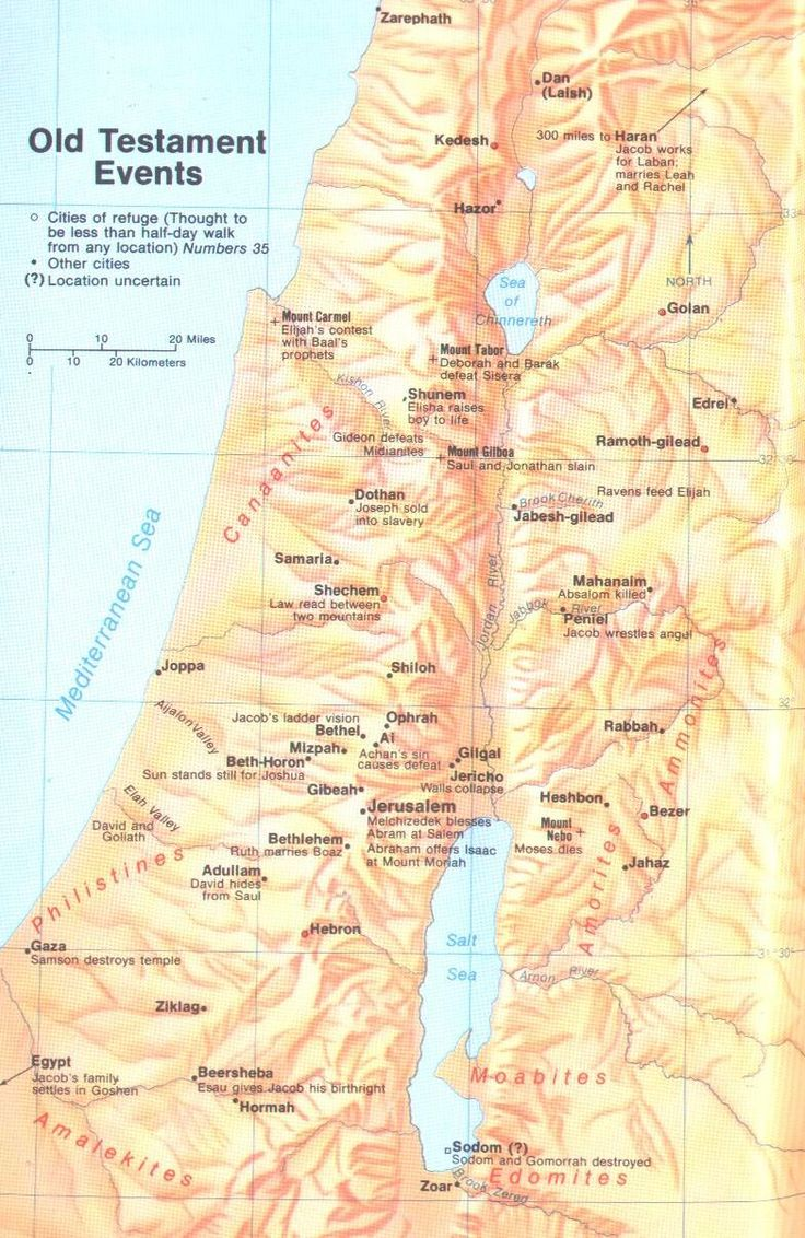Old Testament Events Map... Free Bible Maps - Bible Studies