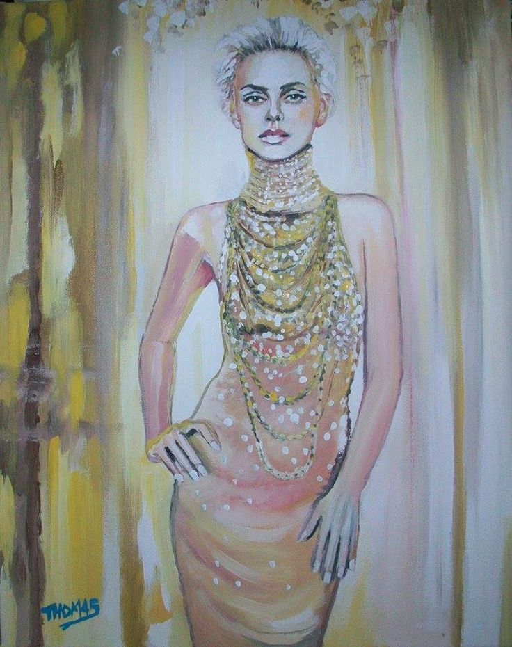 Ja,Dore Dior....Charlise Theron in acrylic by TOM