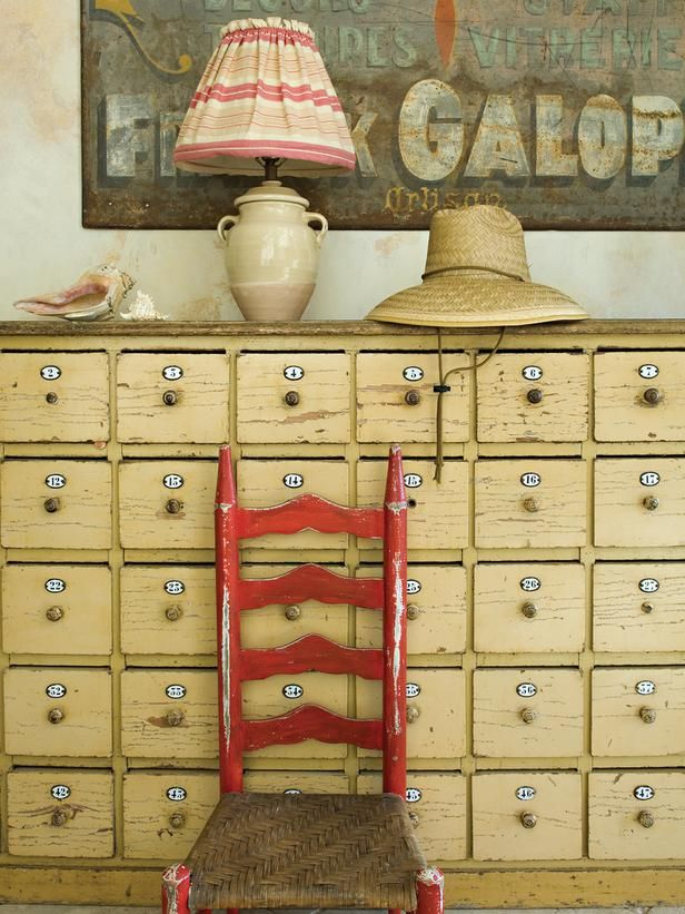 This 19th century mailbox finds new purpose as a stylish entryway storage system.