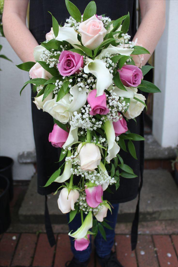Lilac And White Tear Drop Bouquet Flower Boutiquebride