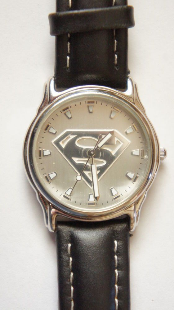 Fossil Superman watch With Leather deBeer Strap WB17010385 #Fossil