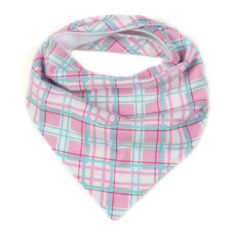 Dribble Bib - Pink Check