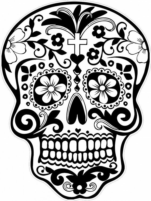 Day of the Dead Mask Printable | 851x640
