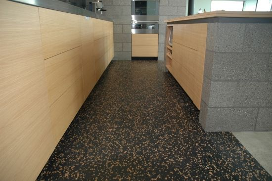Every thought of using recycled rubber on your floor? Rubber Flooring in Kitchens the Smart Option - EBOSS