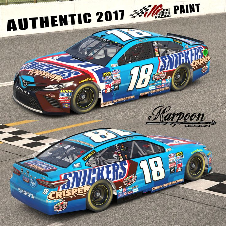2017 JGR Authentic Kyle Busch Snickers Crisper Camry