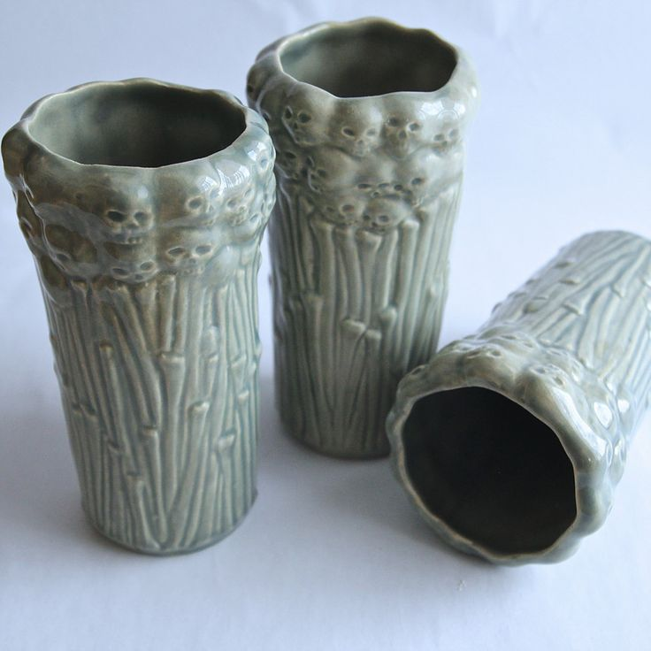 """Skeletons"" tiki mugs. ""Kościeje"" tiki mugs, hand-made ceramics. 500ml. by Benusha - ceramika"