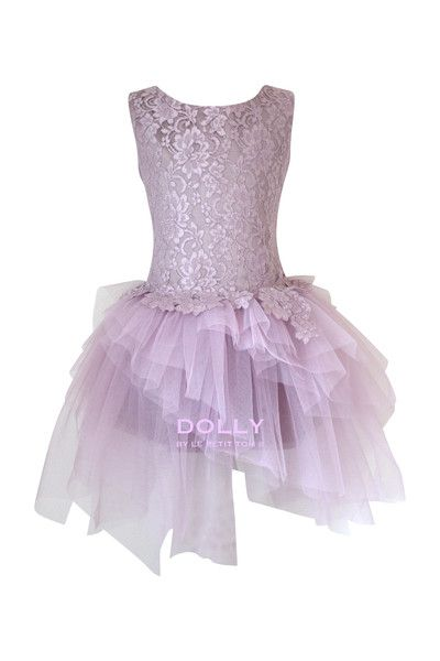 DOLLY by Le Petit Tom ® the ARABESQUE DRESS mauve