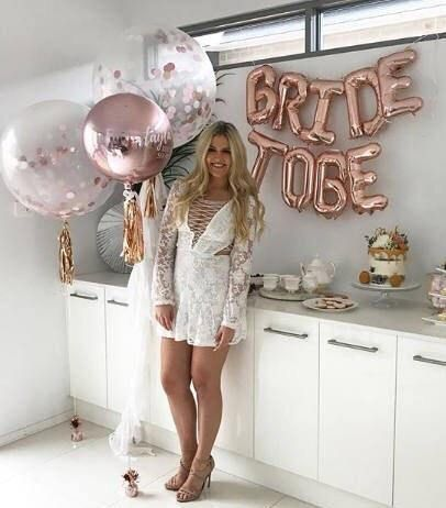 Bride to Be Balloons – Bride to Be/ Bridal Shower/ Bachelorette Party/ Bridal Shower Decor/ Bride Tribe/ Bridal Shower Banner