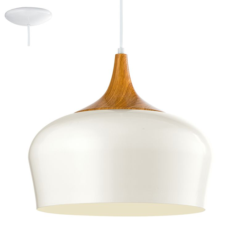 LAMPA wisząca OBREGON 95383 Eglo metalowa OPRAWA zwis kremowy
