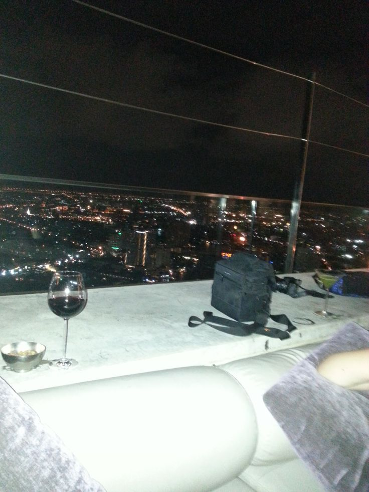 View from the bar on the 65th floor. Couches werent very comfortable and the drinks cost a fortune but view made up for it.