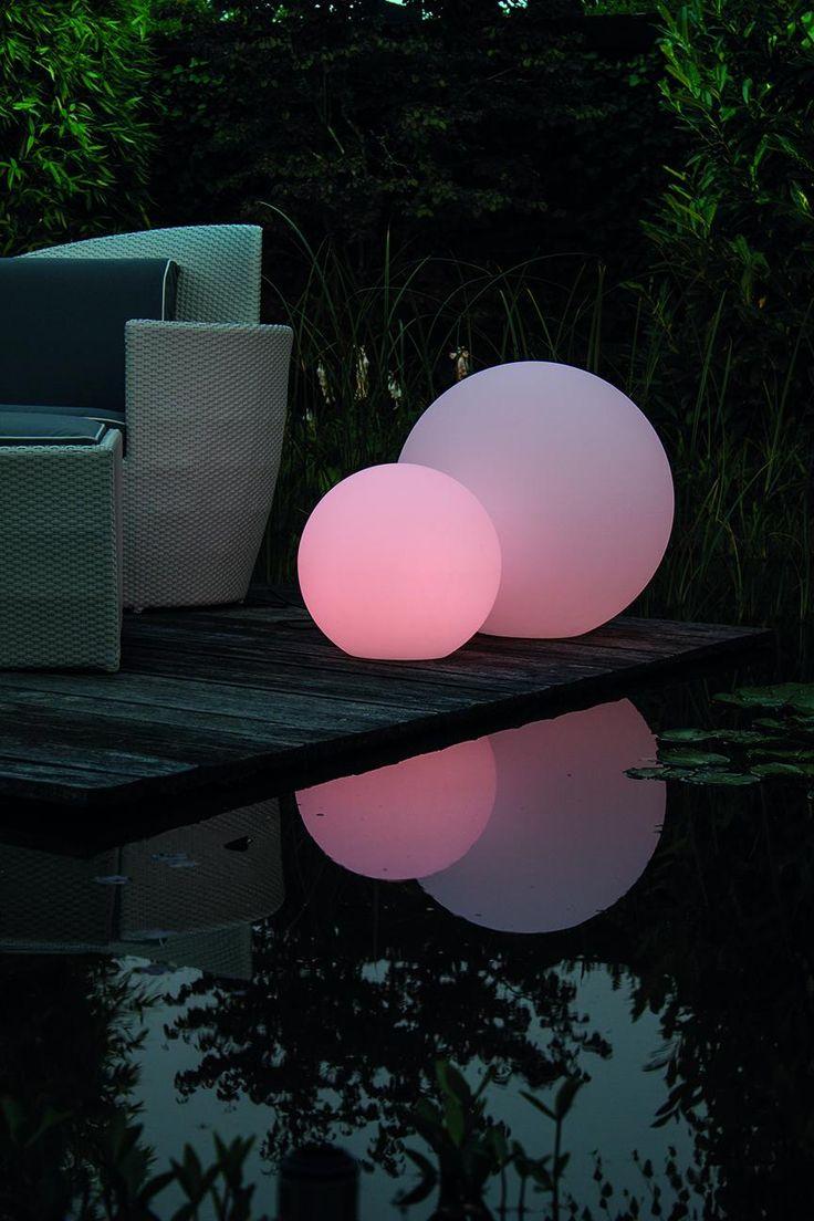 Lovely LUMENIO Garten Leuchtkugel leuchtet per Fernbedienung in Farben http