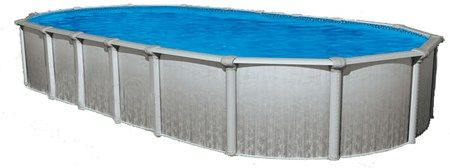 """Heritage 15' x 26' Oval 52"""" Steel Above Ground Pool (Skimmer Included)"""