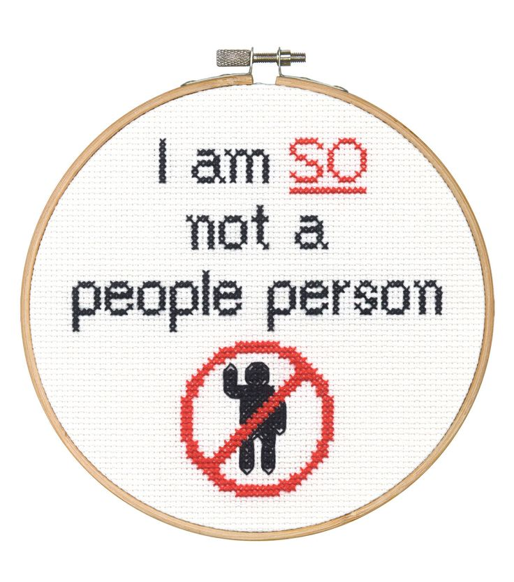 Say It! in cross stitch-People Person