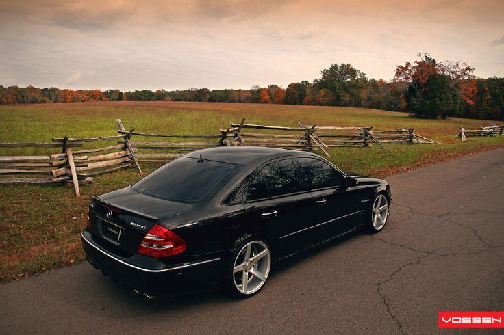 BENZTUNING: Mercedes-Benz E55 AMG W211 on Vossen wheels