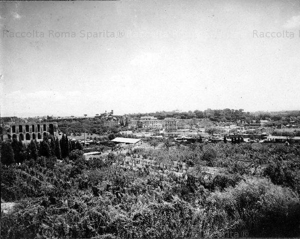 Descrizione: Circo Massimo, valle Murcia e lato sud del Palatino ripresi dalle pendici dell'Aventino Anno: 1900/1910
