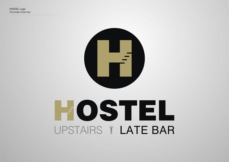 Corporate Identity Hostel_Upstairs_Late Bar_Logo_Yianart