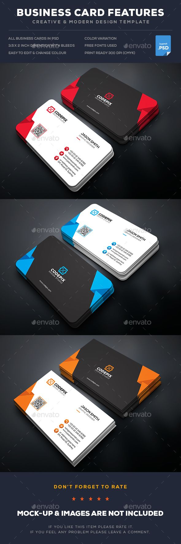 Shape Business Card Template PSD. Download here: http://graphicriver.net/item/shape-business-card/16918730?ref=ksioks