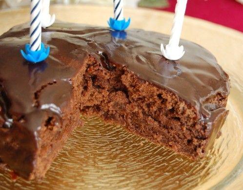 Gateau d'anniversaire sans gluten sans oeufs sans chocolat