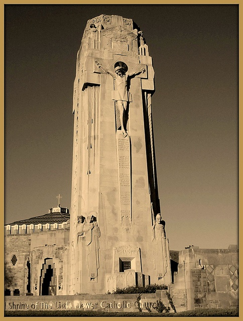 Crucifixion Tower: National Shrine of the Little Flower; Royal Oak, MI.  Flickr - Photo Sharing!