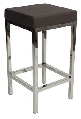 """Albany"" Stainless Steel Frame Backless Padded Bar Stool in Charcoal - AU$119 -https://www.simplybarstools.com.au/products/albany-stainless-steel-frame-backless-padded-bar-stool-in-charcoal – Simply Bar Stools - steel, backless, fixed leg, bar stools. #Australia #Furniture"