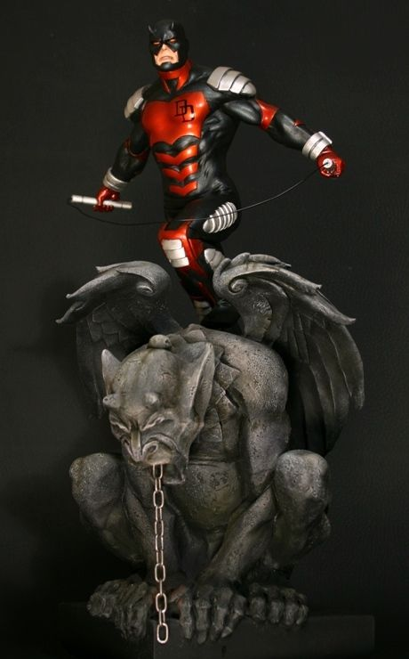 Daredevil Armored statue  Sculpted by: Randy Bowen with Ulises Cantu    Release Date: August 2009  Edition Size: 1000  Order Of Release: Phase IV (statue #167)