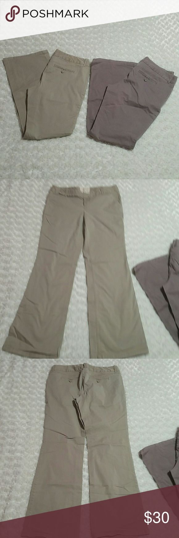 """VS London Jean Chino Stretch The Kate Fit Pants Worn but condition still good - 2 pair bundle - 97% cotton, 3% spandex - 1 khaki, 1 taupe - inseam 31"""" - rise 8"""" - """"The Kate Fit"""" chinos by London Jean purchased from Victoria's Secret catalog Victoria's Secret Pants"""