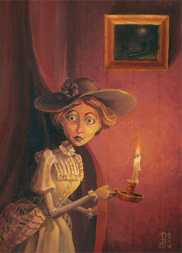 Lady with Candle painting by by Victoria Poloniae