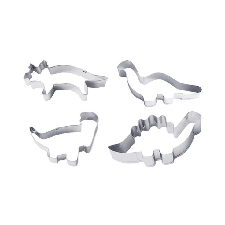 This set of four dinosaur shaped cookie cutters are great for cutting all kinds of food in to fun shapes. Just bake some simple cookies or biscuits and decorate with colourful icing and sprinkles.