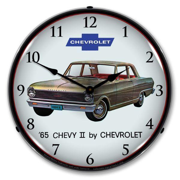 Antique Style 1964 Impala Backlit Clock 129 99 Wall Clock Light Impala Chevrolet Impala